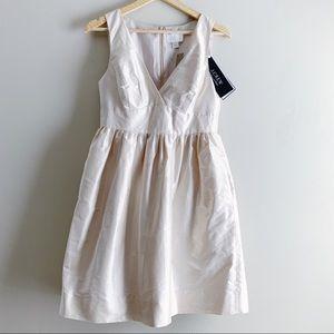 J.Crew • Petite Hope Dress in Silk, Blush, Size 6